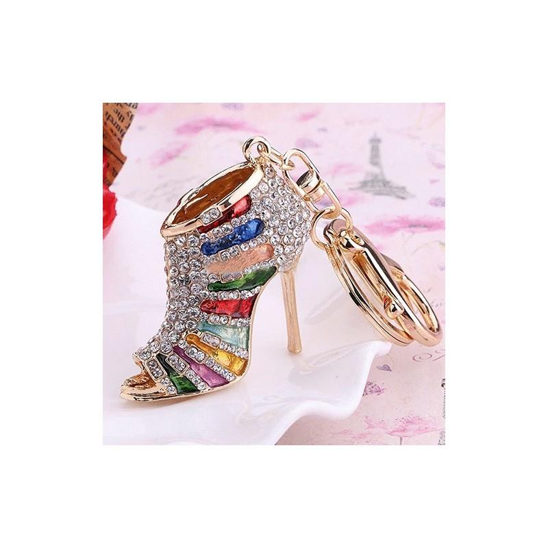 abaad806c Chaveiro de Sapato Scarpin Colorido com Strass