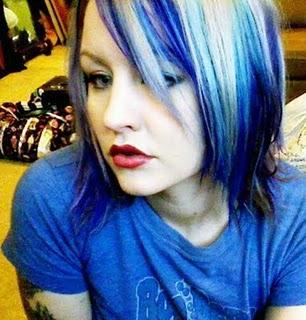 Short blue hair tumblr